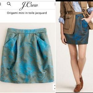 J Crew Origami Toile Jacquard Mini Skirt 6
